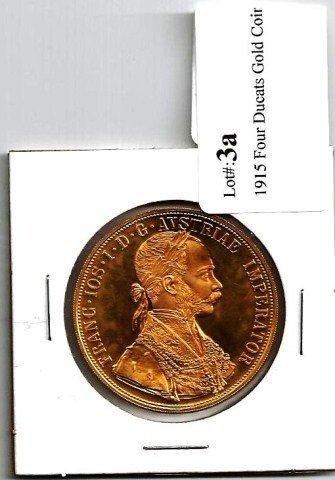 Proof 5 Ducat Austrian Gold Coin