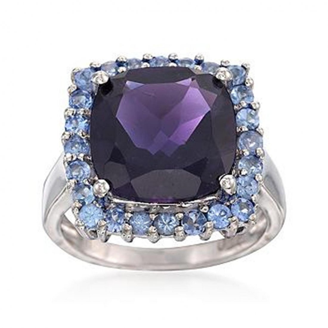 5.00 Carat Amethyst and .70 ct. t.w. Tanzanite Ring in