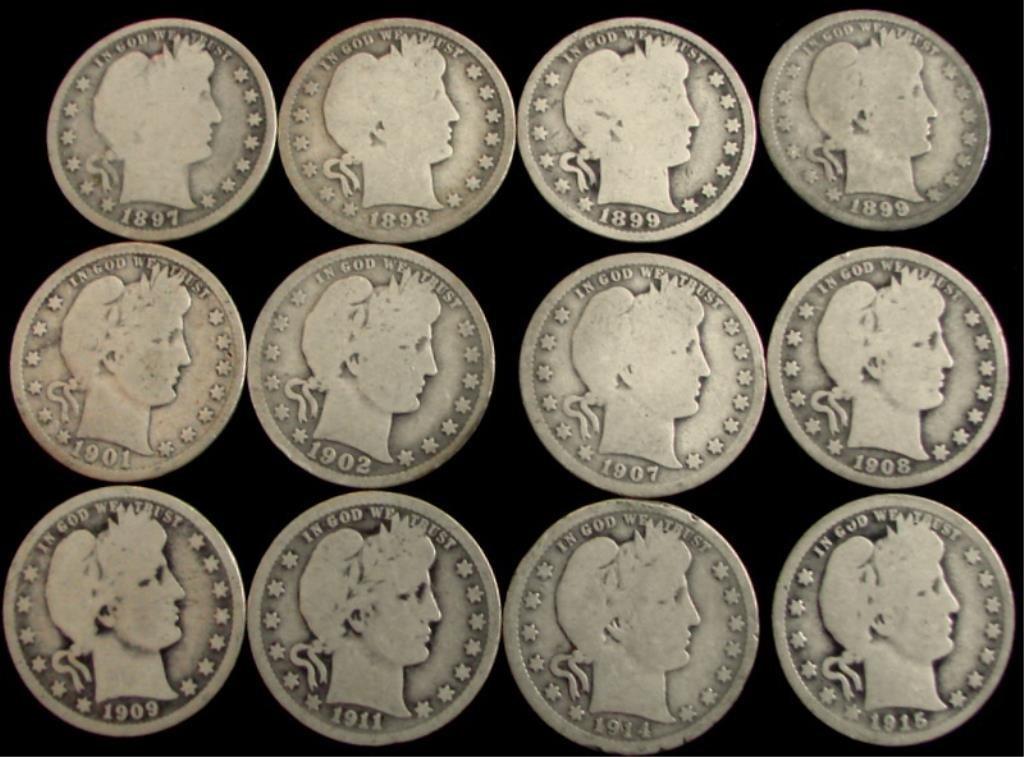 (100) Barber Quarters