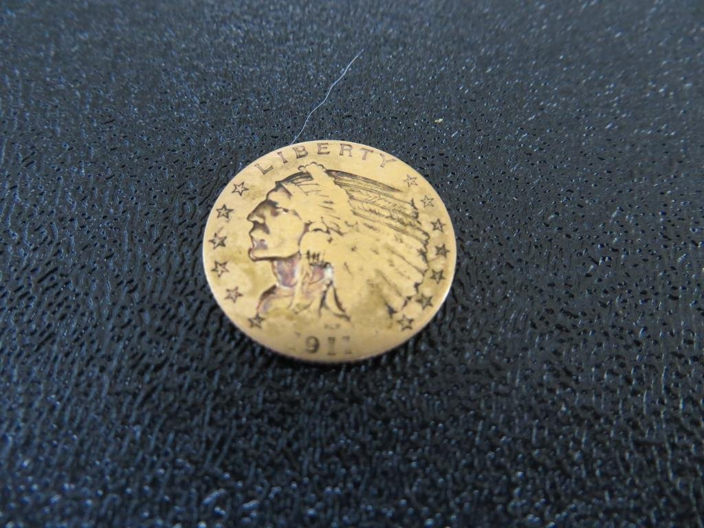 1911 $ 2.5 Gold Indian Head  Quarter Eagle
