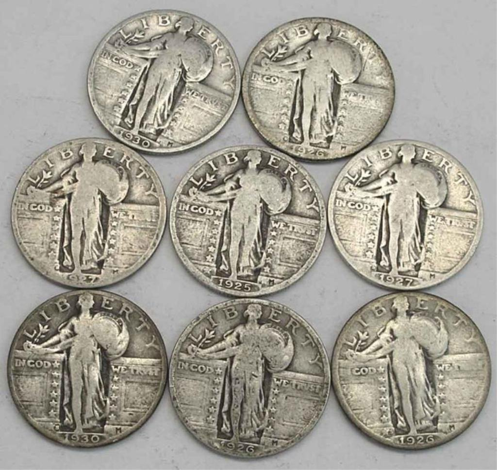 Lot of 4 Standing Liberty Quarters-From Cache