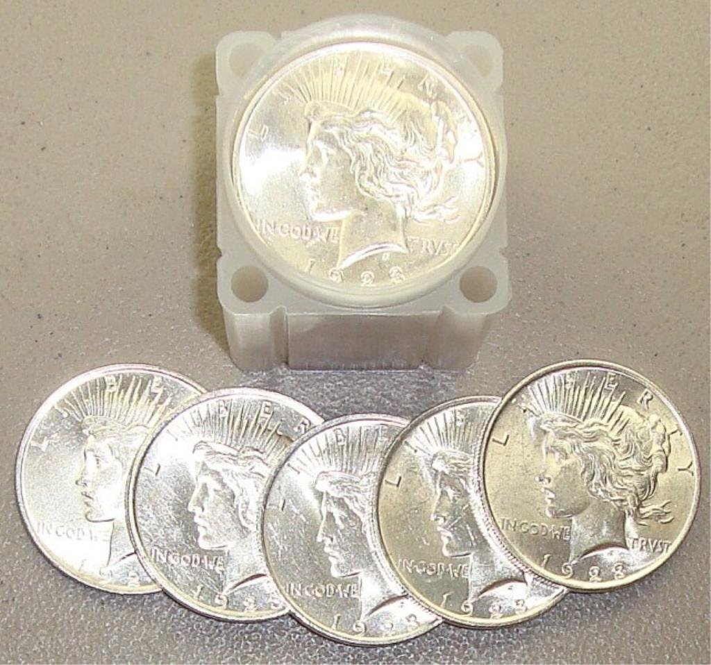 Roll of 1923 UNC Peace Dollars