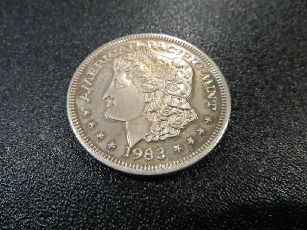 1983 Morgan Design 1 oz Silver Bullion