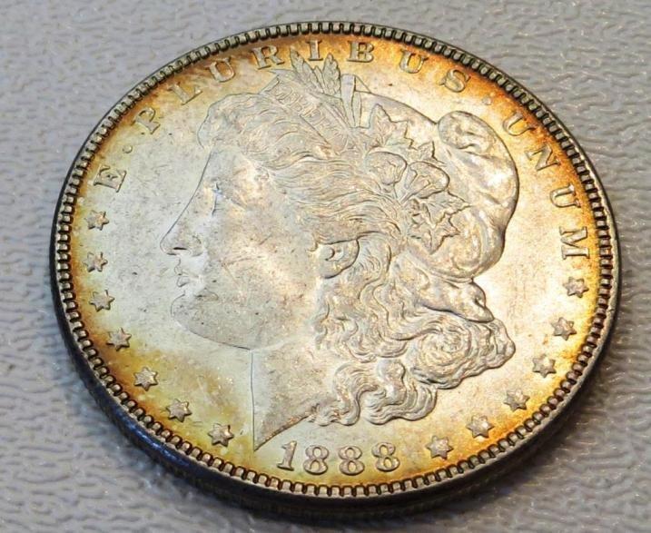 1888 P AWESOME RIM TONE Morgan BU