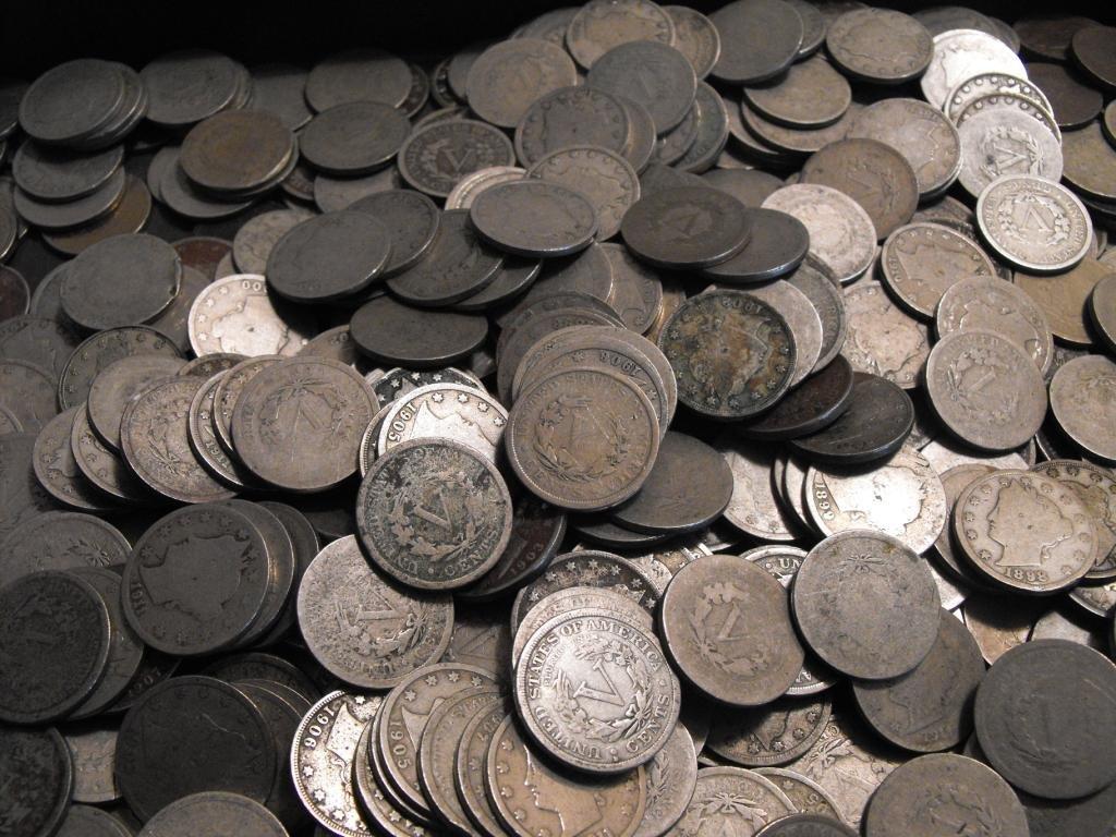 Lot of (100) V Nickels - ag-vg