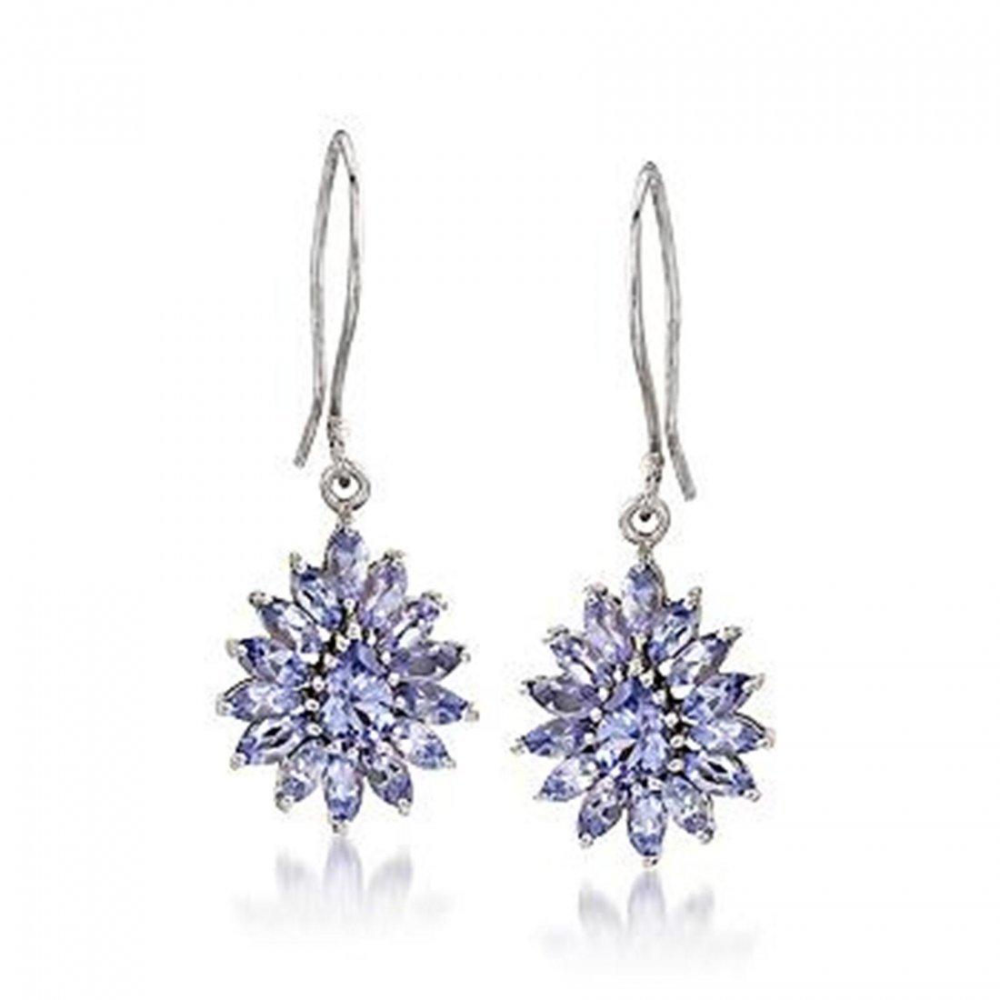 2.95 ct. t.w. Tanzanite Earrings in Sterling Silver