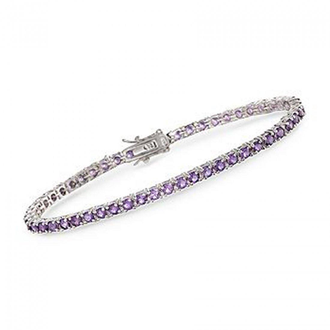 5.00 ct. t.w. Purple Amethyst Tennis Bracelet in