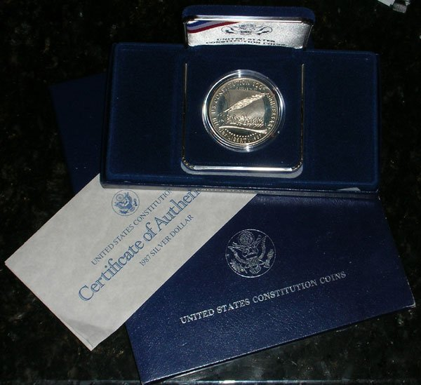 1987 Constitution Proof Silver Dollar-Gem Proof