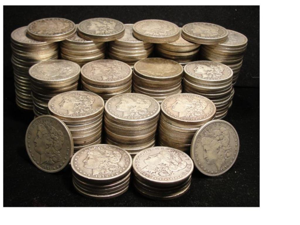 Lot of 500 Morgan Silver Dollars