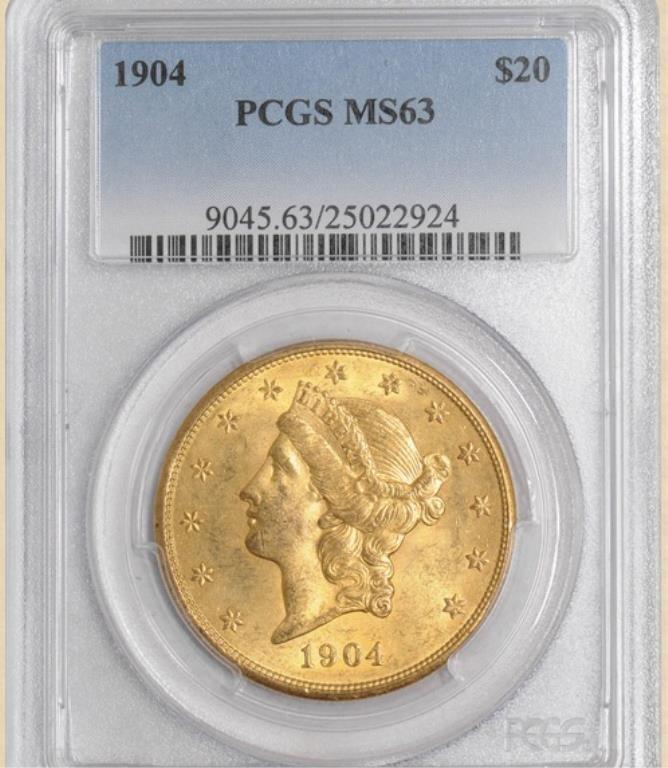 1904 $20 Liberty MS63 PCGS