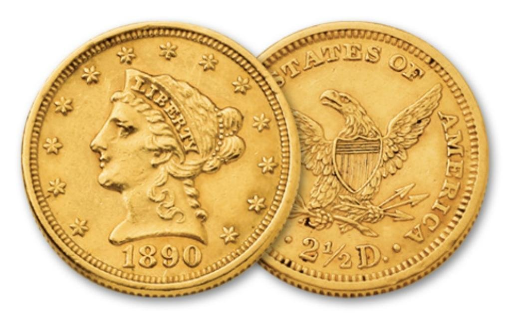 A Random Date xf or Better $ 2.5 Liberty Gold
