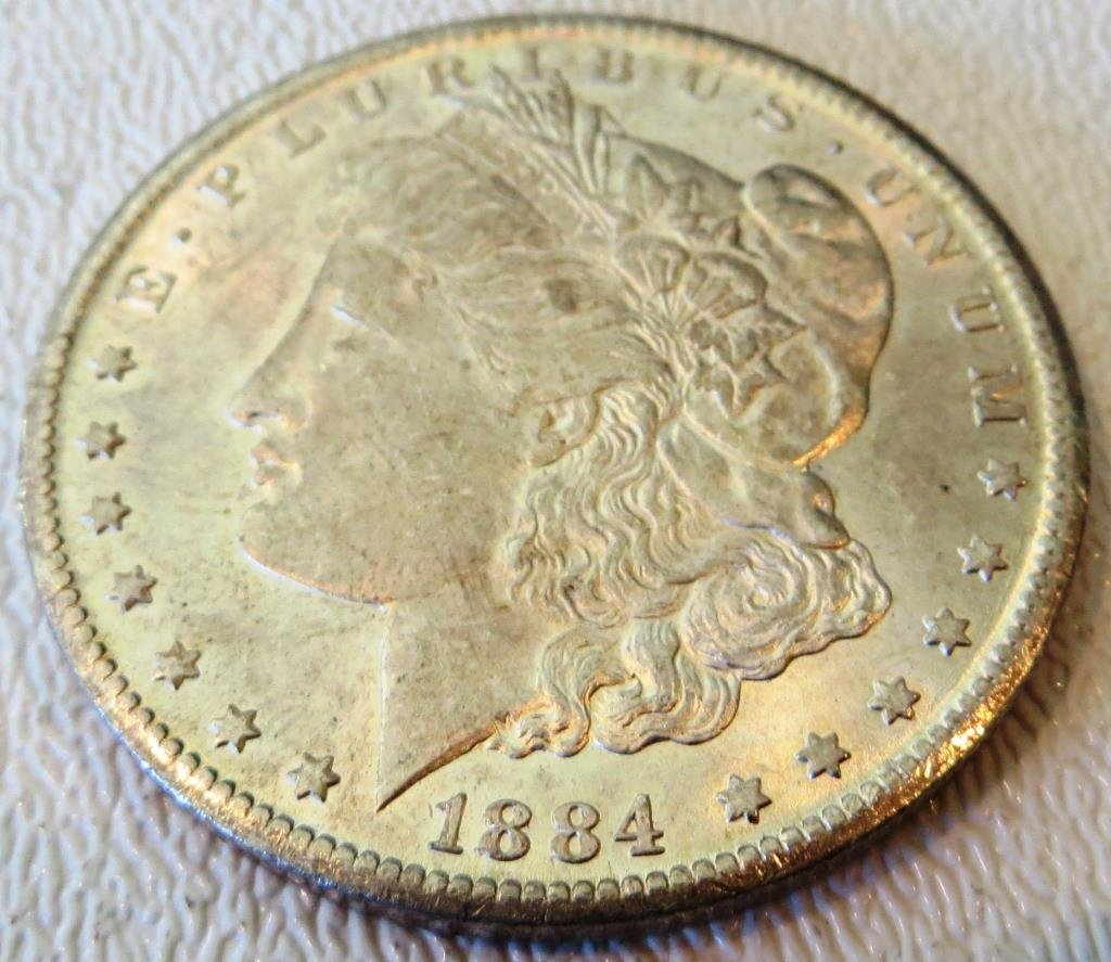 1884 CC KEY DATE BU Morgan Dollar