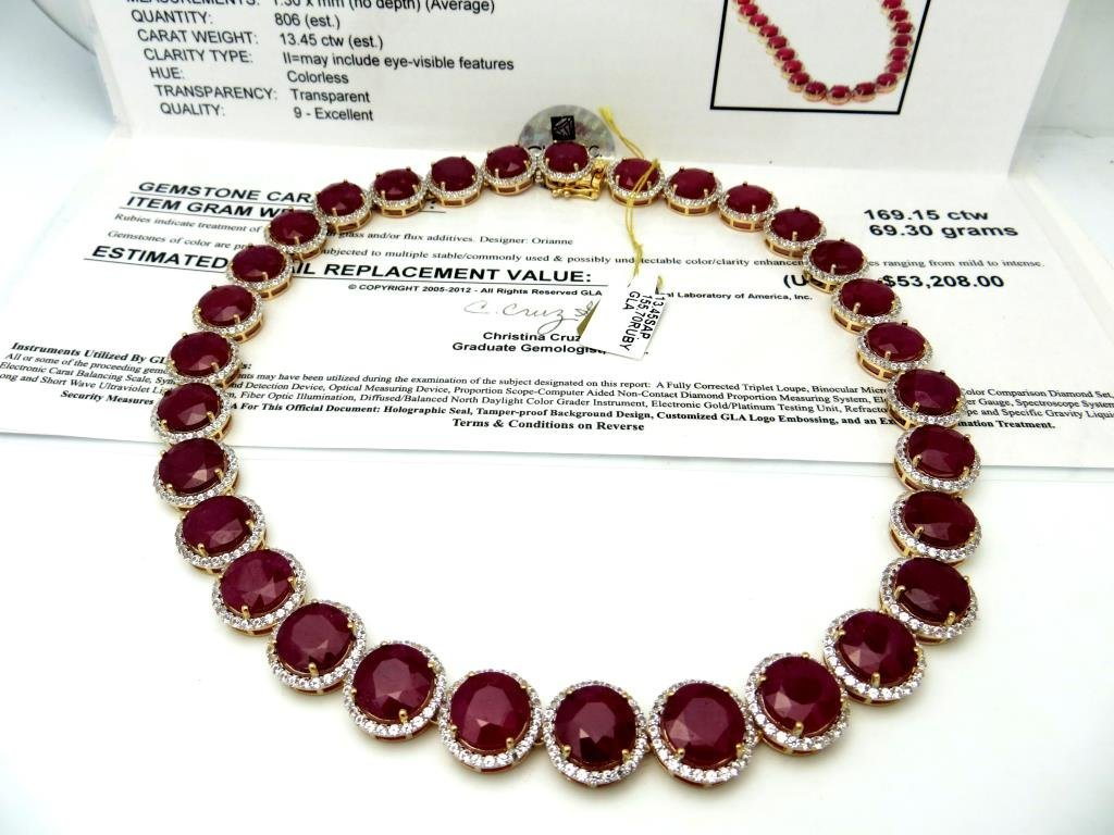 J-10 $ 53,208 App. Ruby & Sapphire Necklace