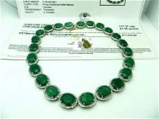 J11  11032 App Emerald  Sapphire Necklace