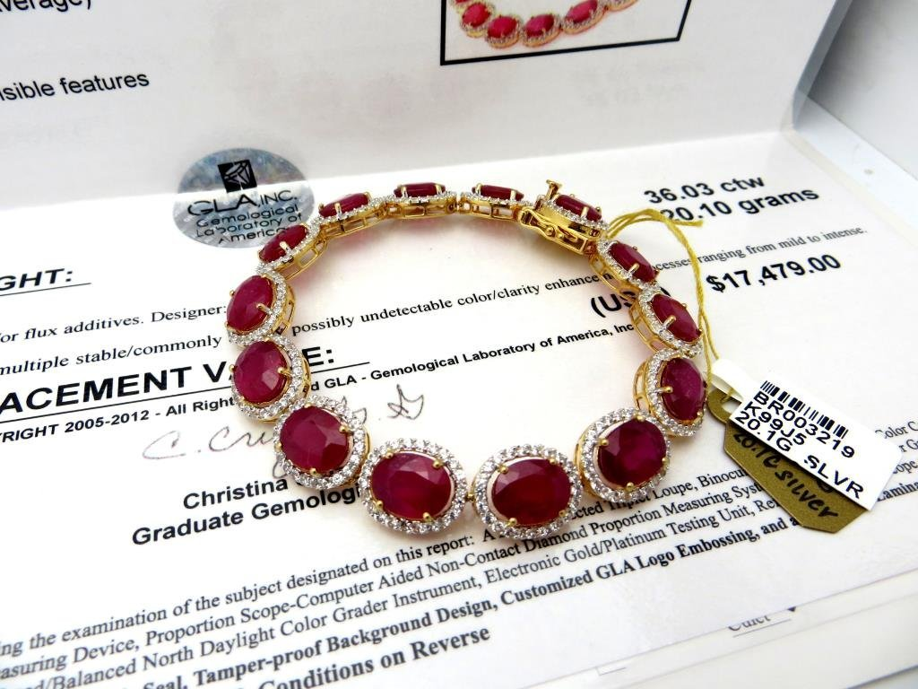 $17,479 App Ruy & Sapphire Bracelet