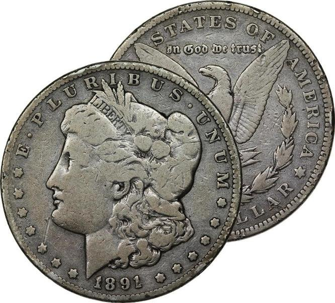 1891 O Better Date Morgan Silver Dollar