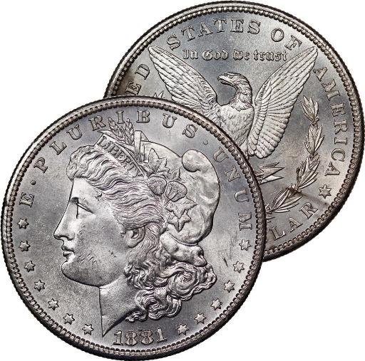 1881 S BU Morgan Silver Dollar