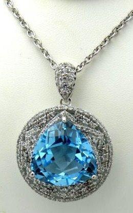 34.21 ct. Emerald 3.30 ct Sapph. Pendant $ 3K