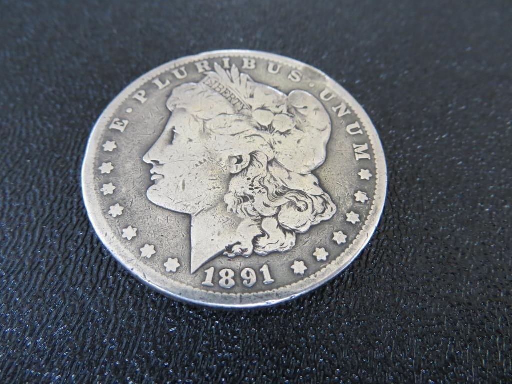 1891 CC KEY DATE Morgan Silver Dollar