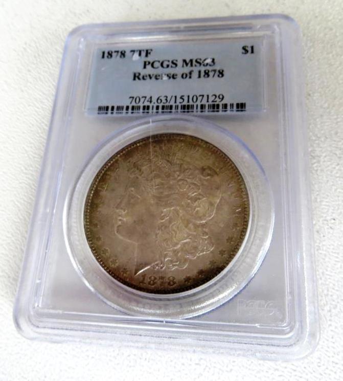 1878 7 TF MS 63 PCGS Rev. of 78