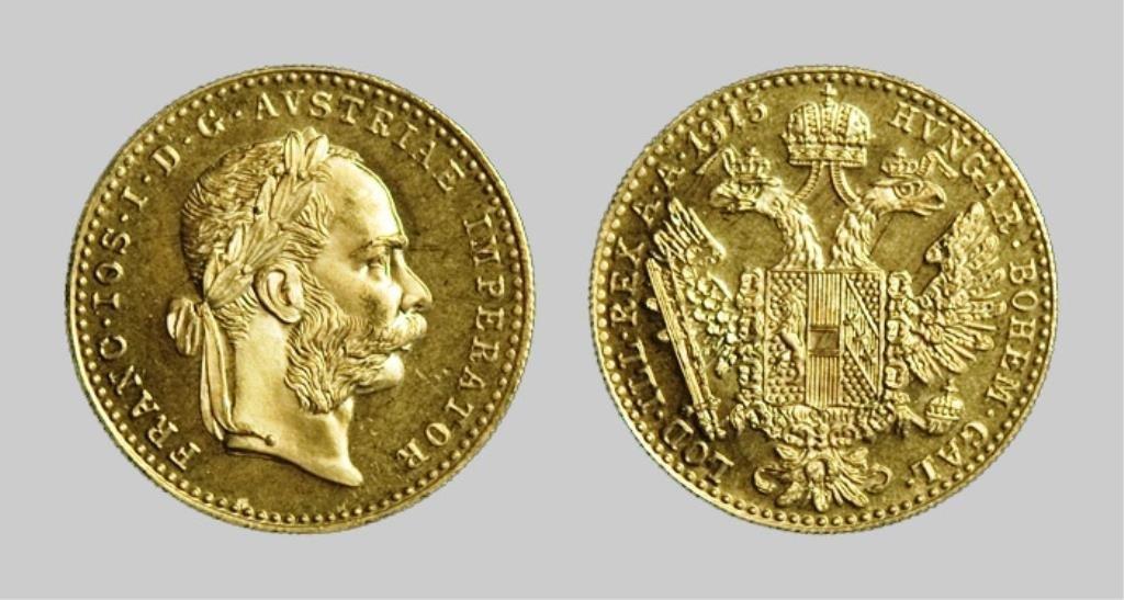 1915  Austrian 1 DUCAT Gold Proof