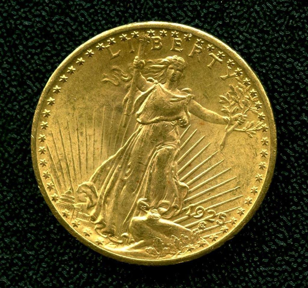 1925 P $ 20 Double Eagle St. Gauden's Gold Coin
