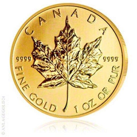 .9999 Canadian Gold Maple Leaf Bullion 1 oz