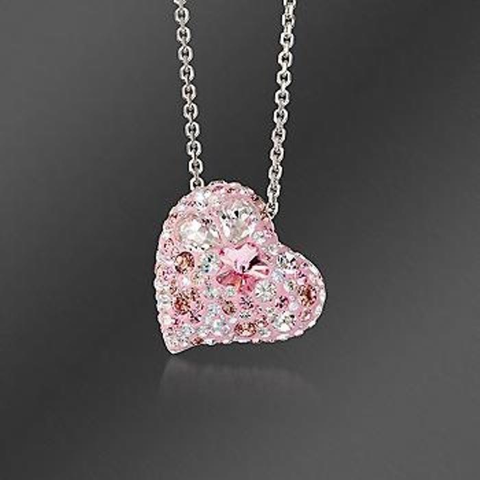 "Swarovski Crystal ""Alana"" Heart Pendant Necklace. 15"""