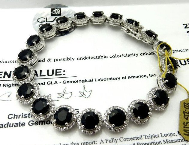 J-1 $6359 App. Sapphire Bracelet
