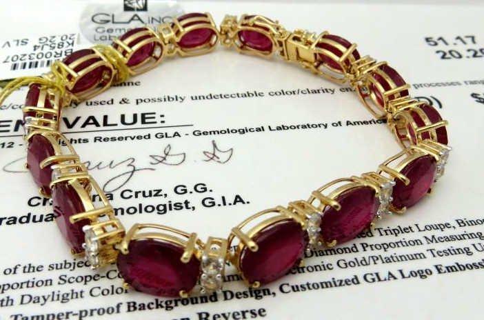 J-2  $23,048 App. Ruby & Sapphire Bracelet