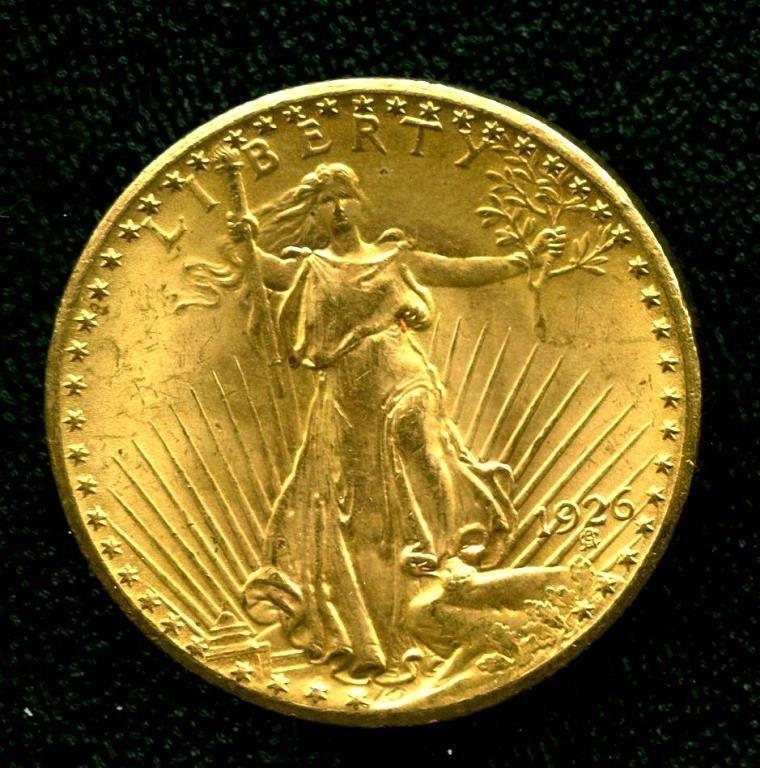 1926 $ 20 Gold St. Gauden's Double Eagle Gold UNC