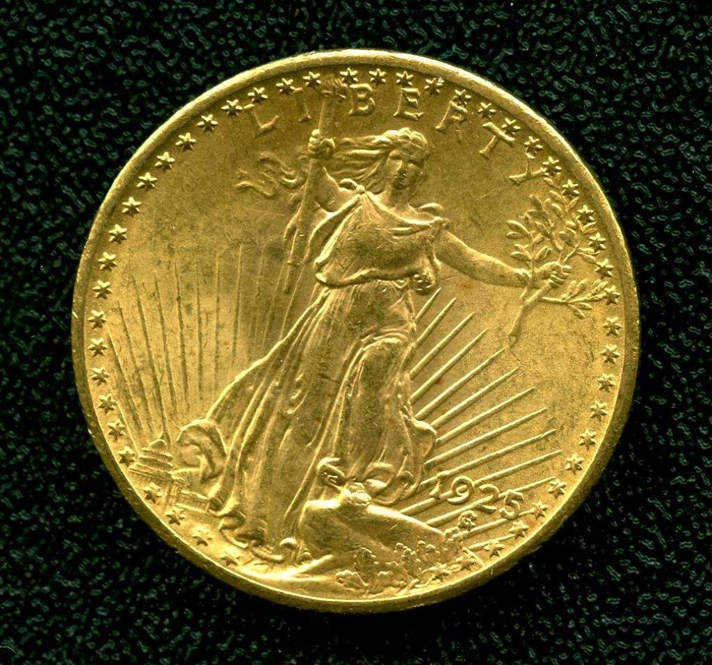 1925 P $ 20 Double Eagle St. Gauden's Gold Coin UC