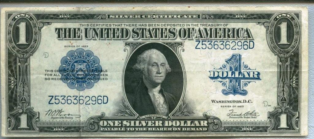 1923 Silver Certificate LARGE Blue Seal UNC