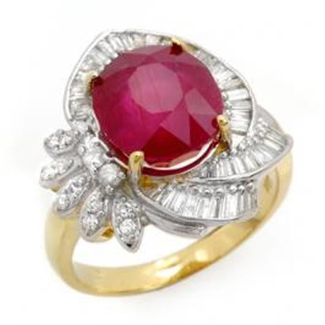 5.2 ctw Ruby & Diamond Ring 14K