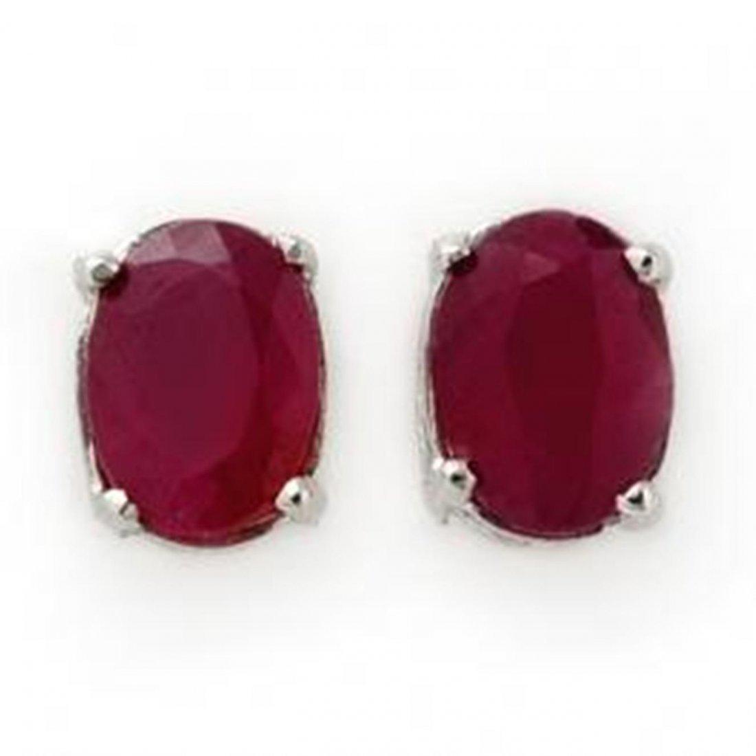 1.50 ctw Ruby Stud Earrings 14K
