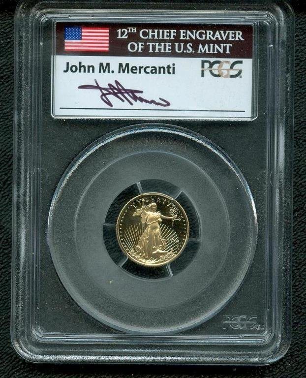 1994 W DP Cameo Proof Mercanti Signed