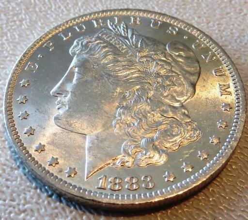 1883 O CH Bu Morgan Dollar