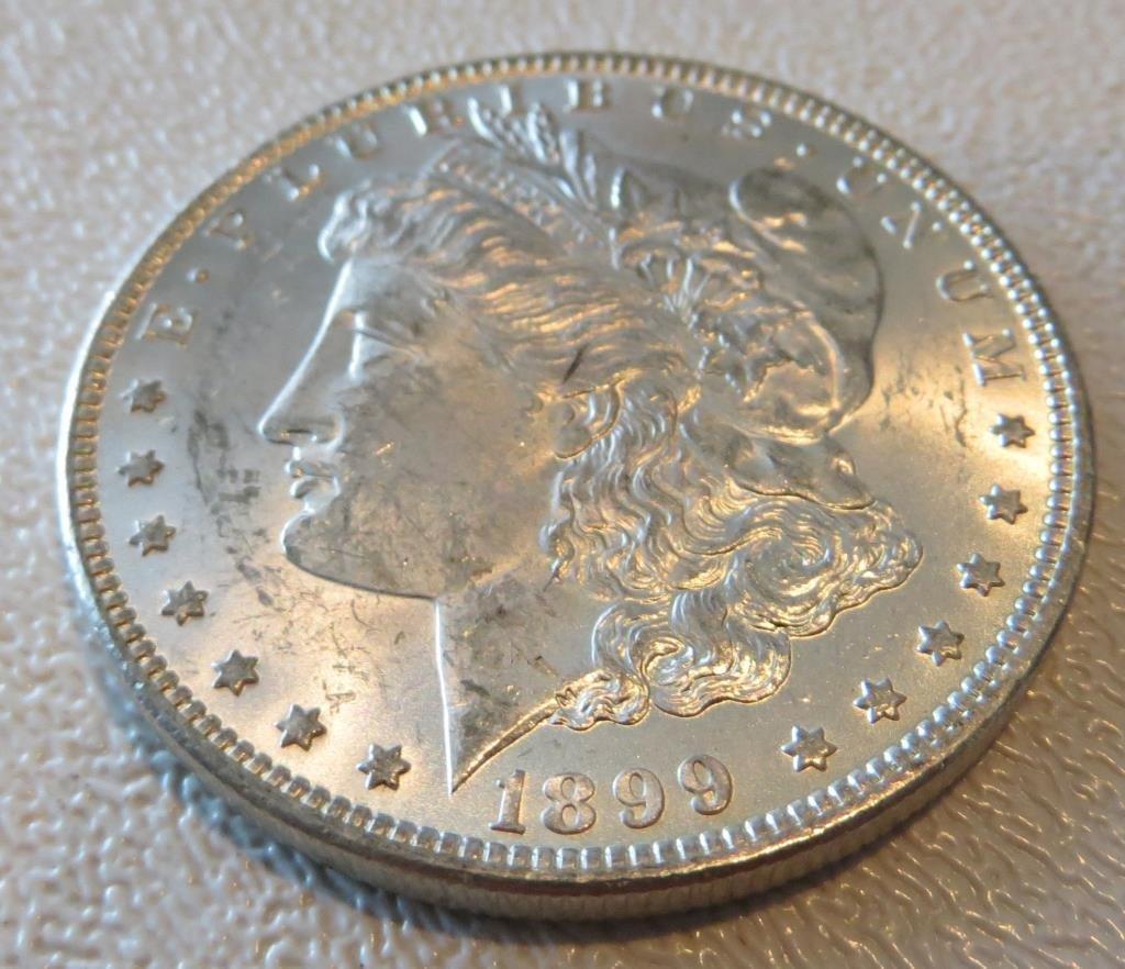 1899 o CH BU Morgan Silver Dollar