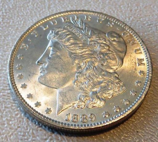 1889 P CH BU Morgan Silver Dollar