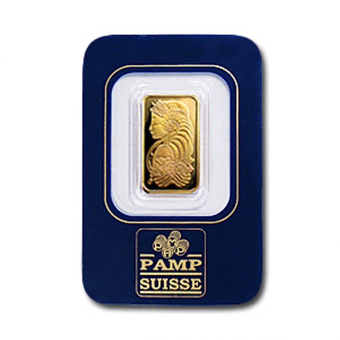 PAMP 2.5 gram Gold Bar 999.9 with Assay Cert.