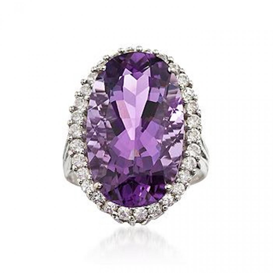 .50 ct. t.w. White Topaz and 11.00 Carat Amethyst