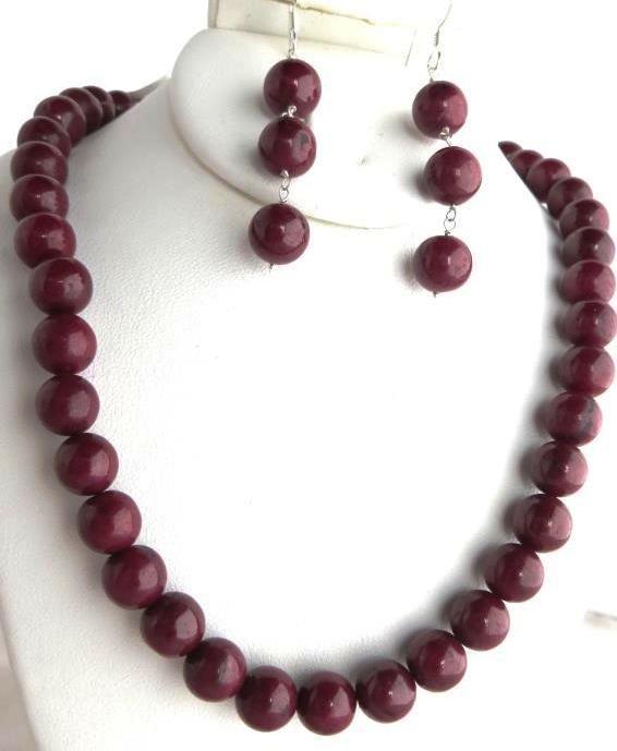 320 tcw. Cabachon Ruby Gemstone Necklace & E/R
