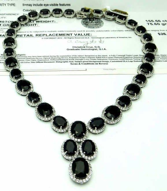 J-4 $ 26,500 App. Sapphire Necklace- Plat. Plate