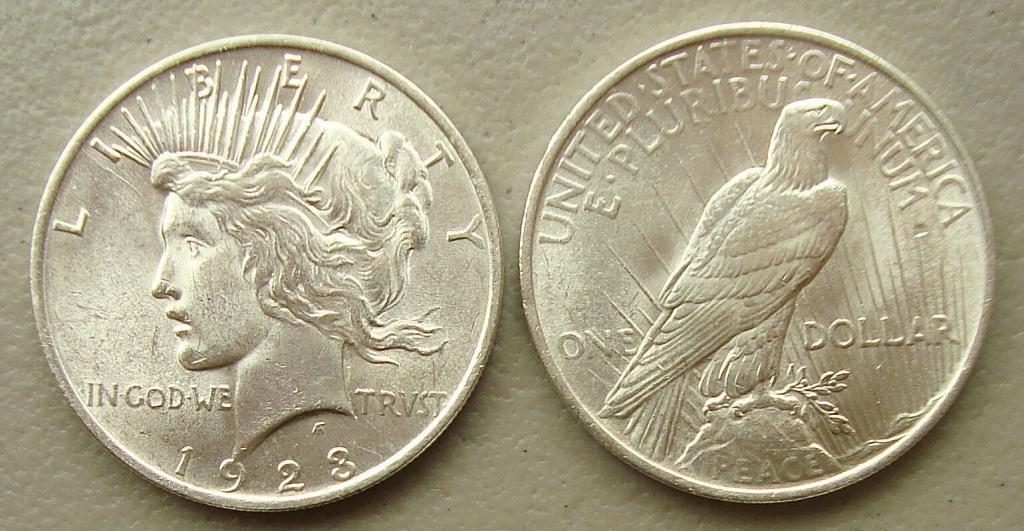 1923 P UNC Peace Dollar