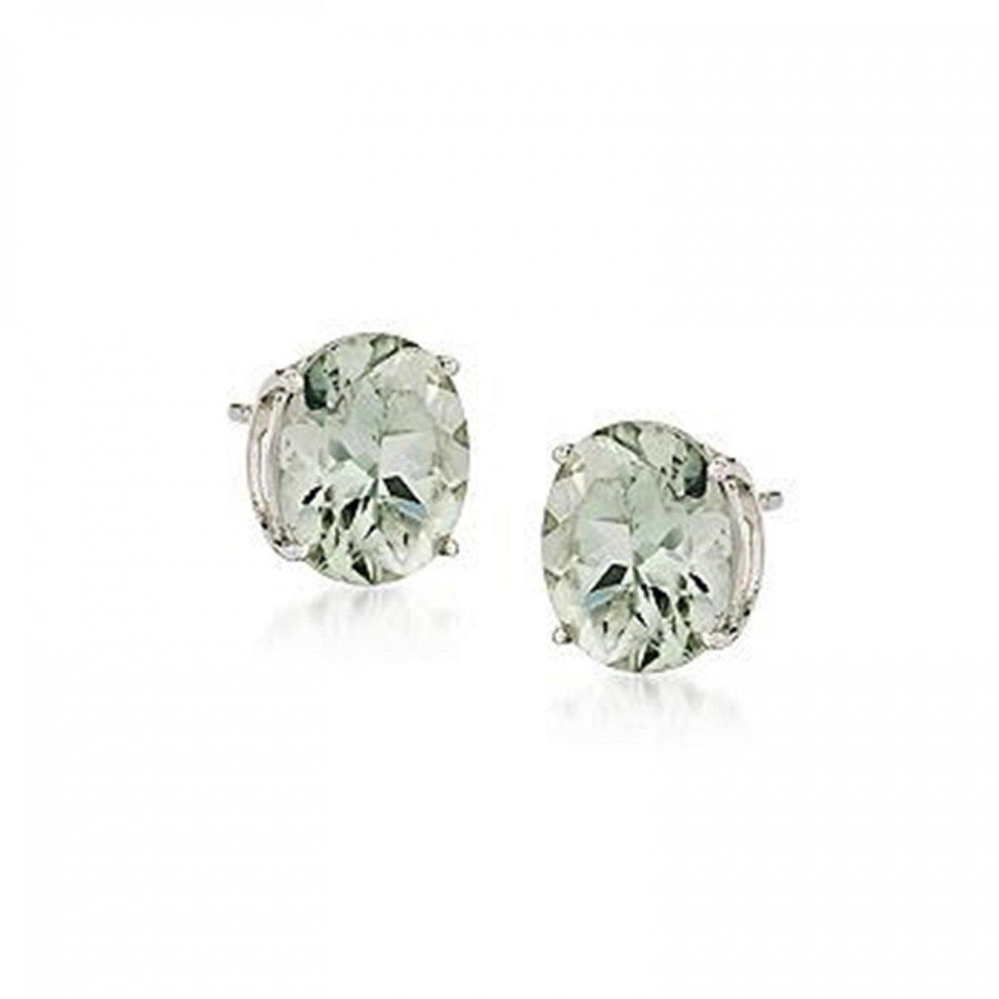 7.50 ct. t.w. Green Amethyst Earrings in Sterling