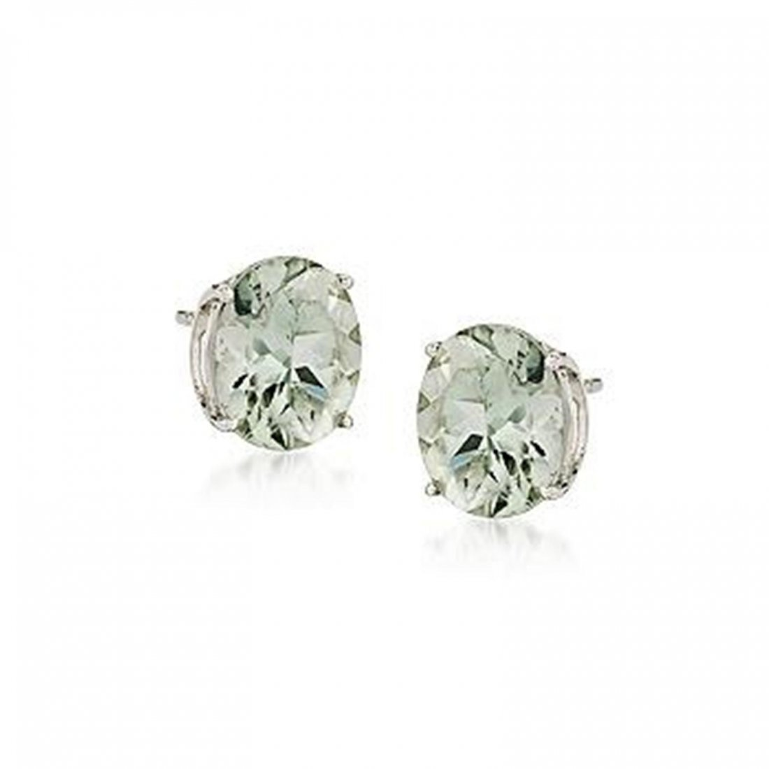 7.50 ct. t.w. Green Amethyst Earrings in Sterling