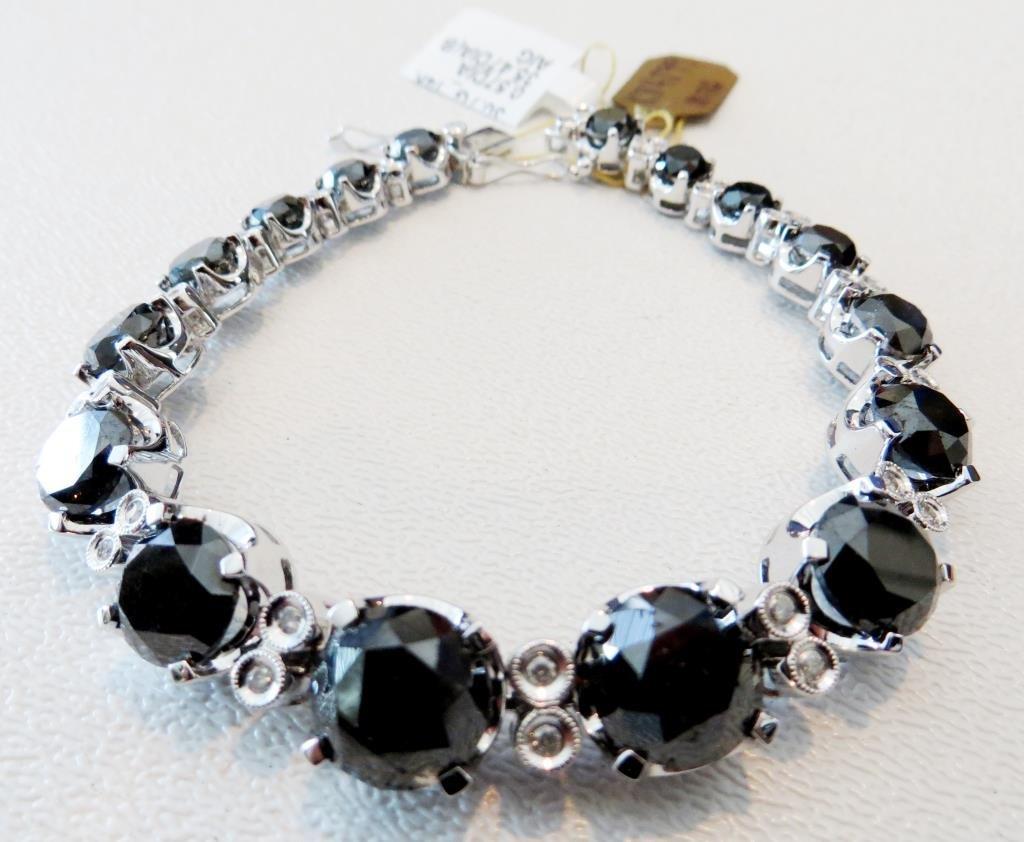 $26,840 Appraised Blqck and White Diamond Bracelet