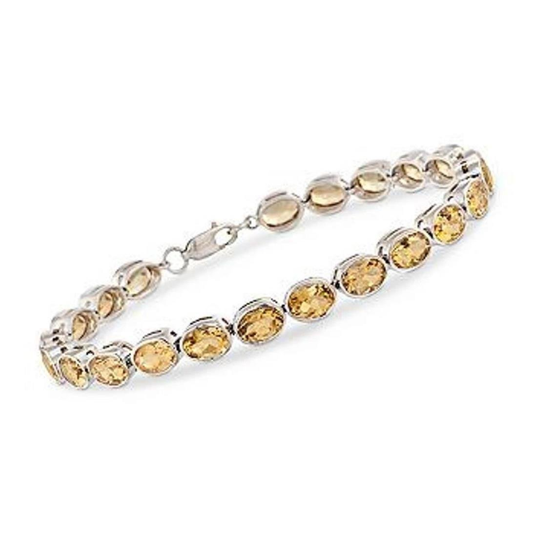 17.00 ct. t.w. Citrine Tennis Bracelet in Sterling