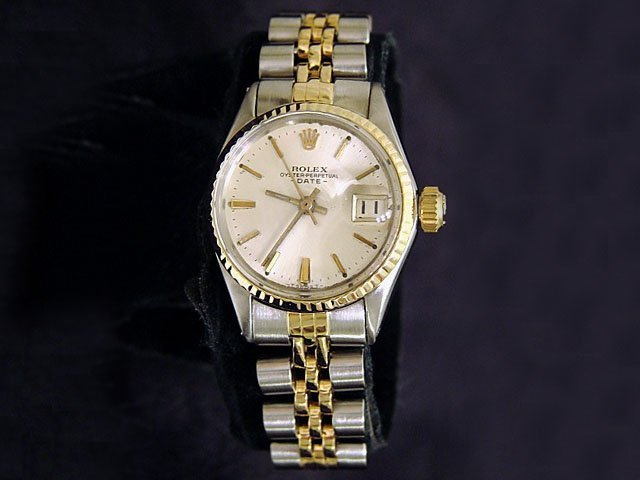 Ladies Two-Tone 18k Gold/Stainless Steel Rolex