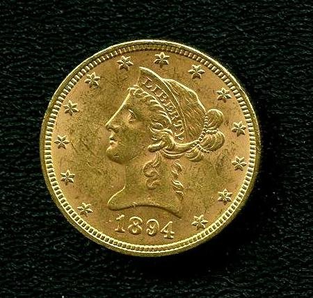 1894 P  $10 Golden Eagle US Gold UNC